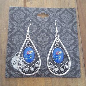 Kansas Jayhawks Drop Earrings